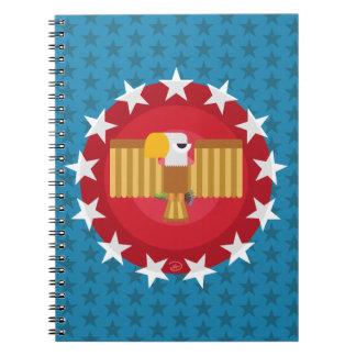 Caderno de Eagle da liberdade (azul) -