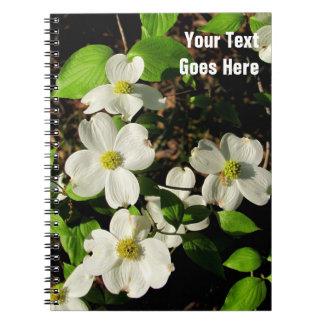 Caderno de florescência branco da flor do Dogwood