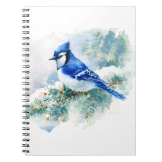 Caderno de Jay azul da aguarela