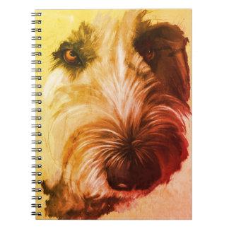 caderno de Labradoodle dos anos 70 - arte original