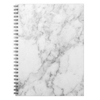 Caderno de mármore preto e branco minimalista