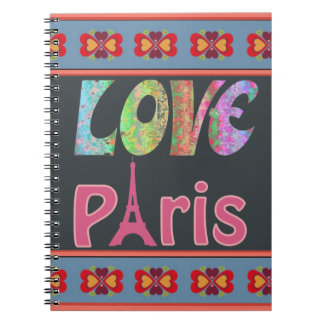 Caderno de Paris do amor