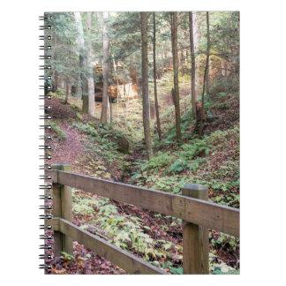 Caderno de passeio calmo do trajeto da natureza da