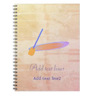 Caderno de remo rústico legal do estilo da
