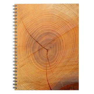 Caderno de seção transversal da foto da árvore da