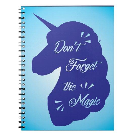 caderno de unicornio