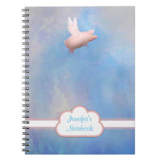 Caderno de voo personalizado do porco