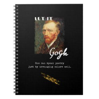 Caderno Deixado o citações de Gogh Vincent van Gogh que