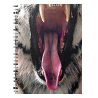 Caderno Dentes do rolamento do tigre