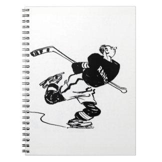 Caderno Desenhos animados do jogador de hóquei