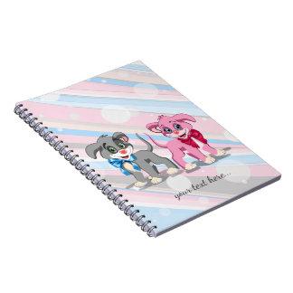 Caderno Desenhos animados dos filhotes de cachorro do