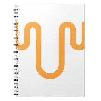 Caderno Design alaranjado do gotejamento