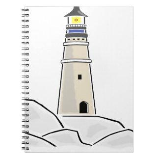 Caderno design de torre do farol