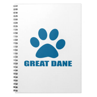 CADERNO DESIGN DO CÃO DE GREAT DANE