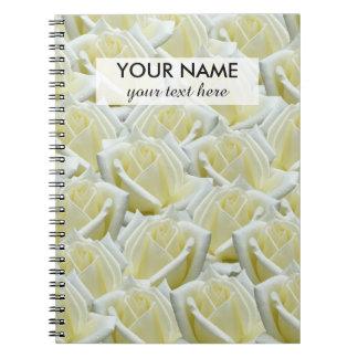 Caderno design floral bonito da fotografia dos rosas