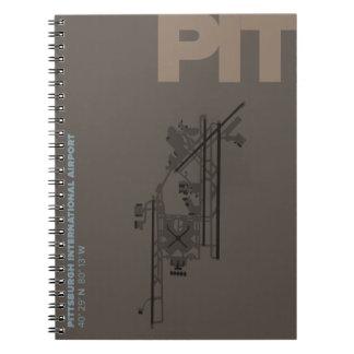 Caderno Diagrama do aeroporto de Pittsburgh (POÇO)