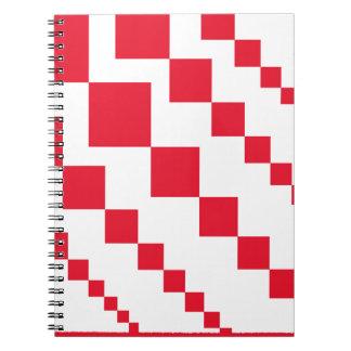 Caderno Diamantes descendentes vermelhos