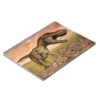 Caderno Dinossauro do rex do tiranossauro que ruje