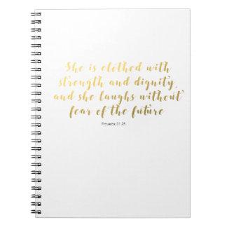 Caderno do 31:25 dos provérbio - o falso do ouro