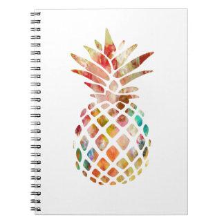 Caderno do abacaxi da aguarela