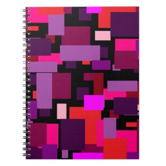 Caderno do azulejo do roxo e do rosa