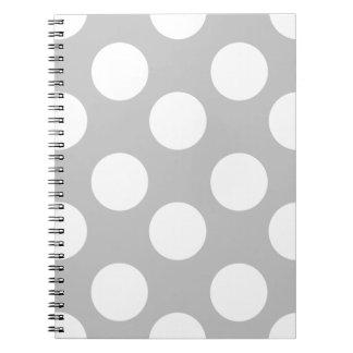 Caderno do cinza e o branco grande das bolinhas