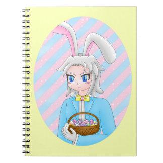 caderno do coelho do anime