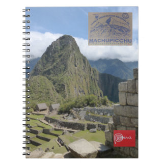 Caderno do destino do viagem de Peru
