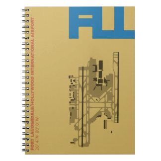 Caderno do diagrama do aeroporto de Fort