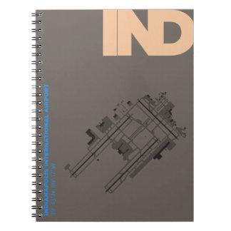 Caderno do diagrama do aeroporto de Indianapolis