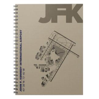 Caderno do diagrama do aeroporto de John F.