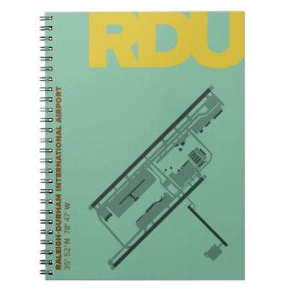 Caderno do diagrama do aeroporto de Raleigh-Durham