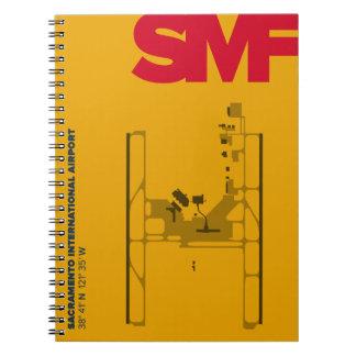 Caderno do diagrama do aeroporto de Sacramento