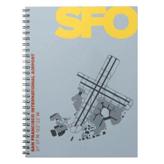 Caderno do diagrama do aeroporto de San Francisco