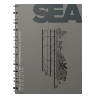 Caderno do diagrama do aeroporto de Seattle (MAR)