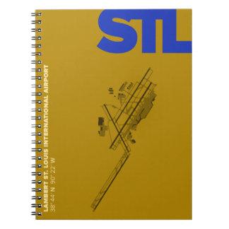 Caderno do diagrama do aeroporto de St Louis (STL)