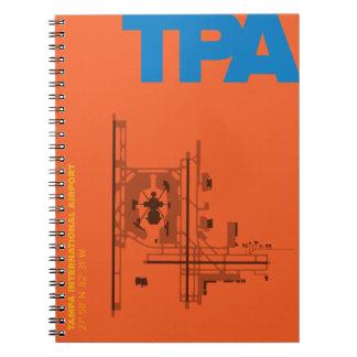 Caderno do diagrama do aeroporto de Tampa (TPA)