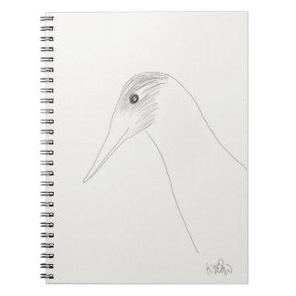 Caderno do Doodle do pássaro