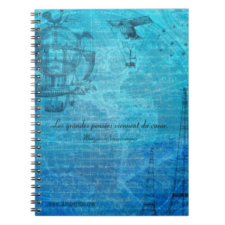 Caderno do Espiral-Anel de Steampunk do francês