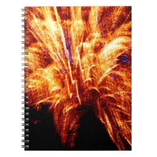 Caderno do fogo-de-artifício
