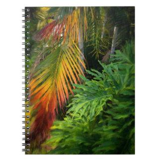 Caderno do fulgor da palma