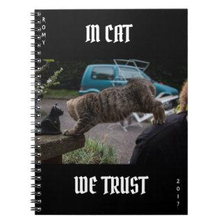 Caderno do gatinho, no CAT NÓS CONFIAMOS 2017
