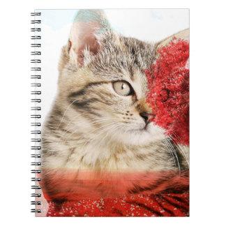 Caderno do gato de gato malhado