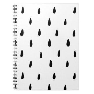Caderno do impressão da gota do rasgo