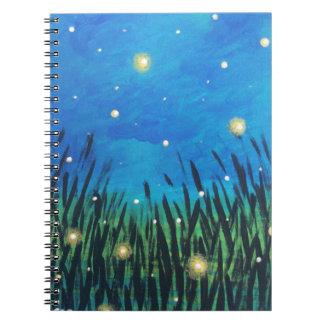 Caderno do inseto do fulgor