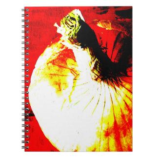 Caderno do jardim da cebola vermelha
