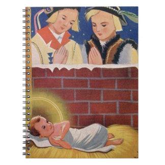 Caderno Do Natal polonês de Wesołyeh Świąt do vintage arte
