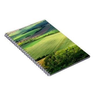Caderno do panorama da natureza