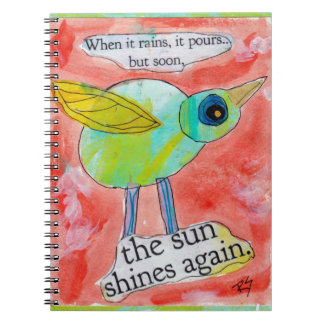 Caderno do pássaro da chuva