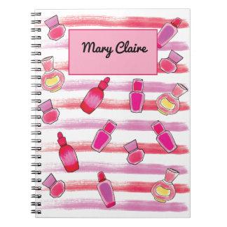 Caderno do planejador do jornal das garrafas de